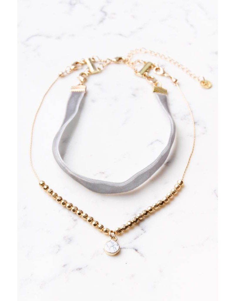 Shira Melody Wanderlust Layered Choker