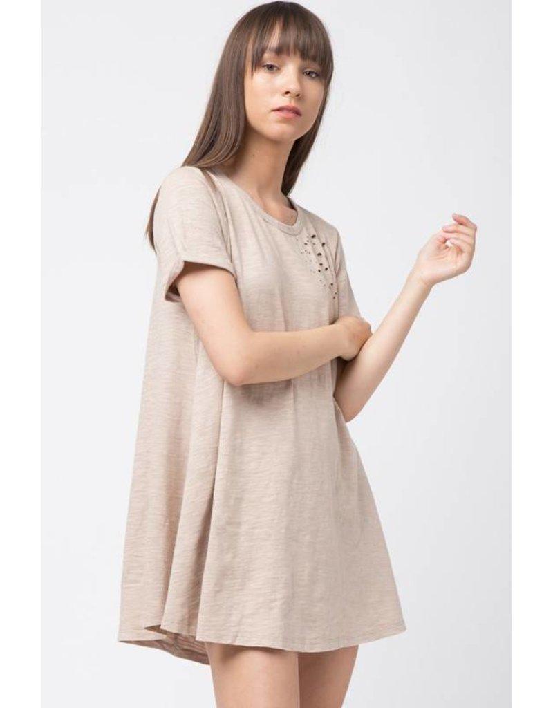 Darkest of Days Distressed T-Shirt Dress