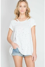 Dana Distressed Top