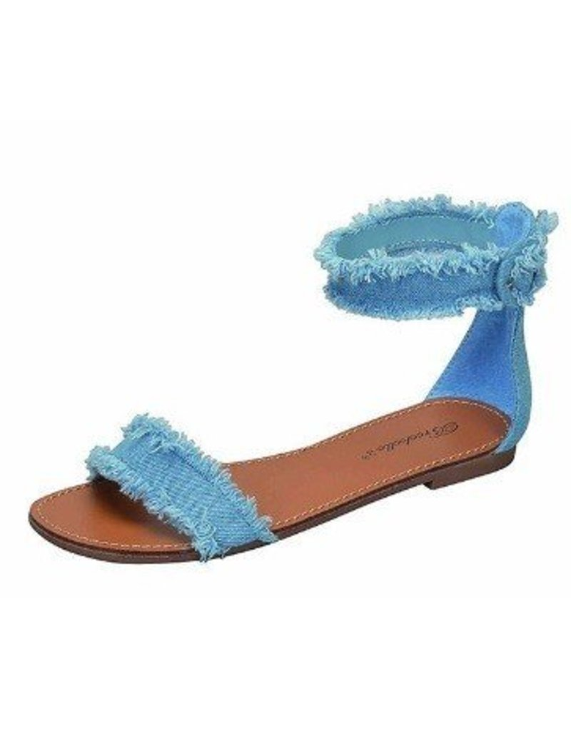 Shine On Denim Sandals