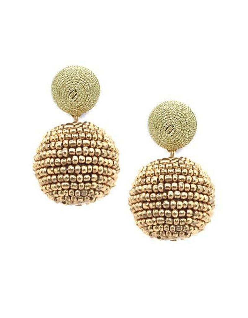 Thread & Seedbead Earrings