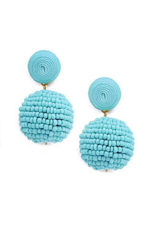 Thread & Seedbead Earrings