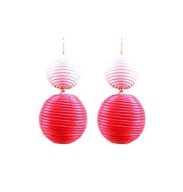 Two Tone Ball Earrings