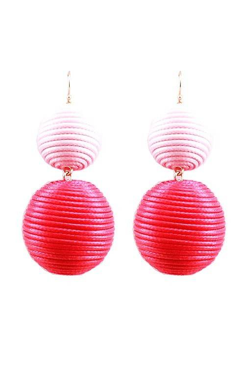 Two Tone Ball Earrings