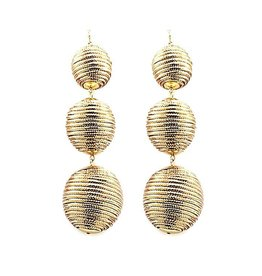 Shiny Gold Ball Earrings