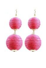 Thread Ball Hook Earrings