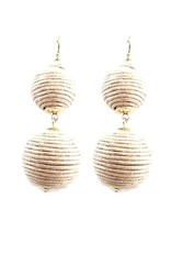 Thread Ball Hook Earrings