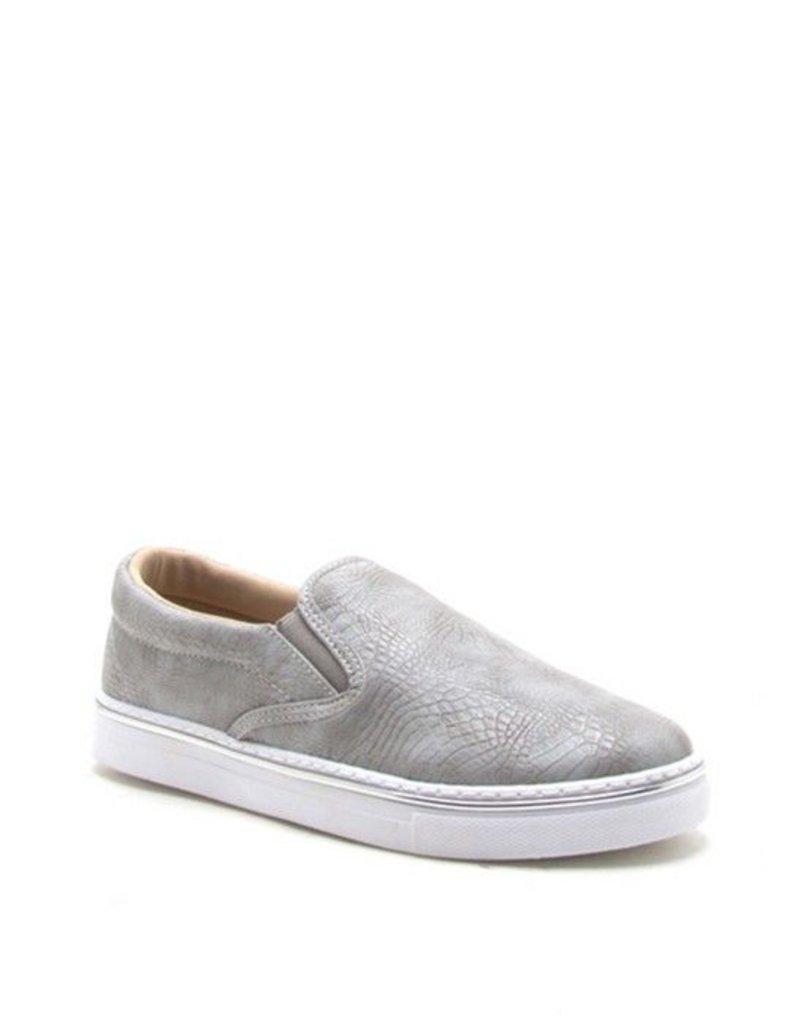 Snake Skin Slip On Sneakers