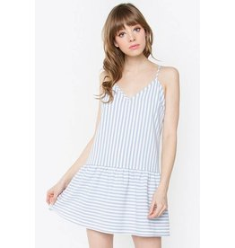 Elisa Striped Ruffle Dress