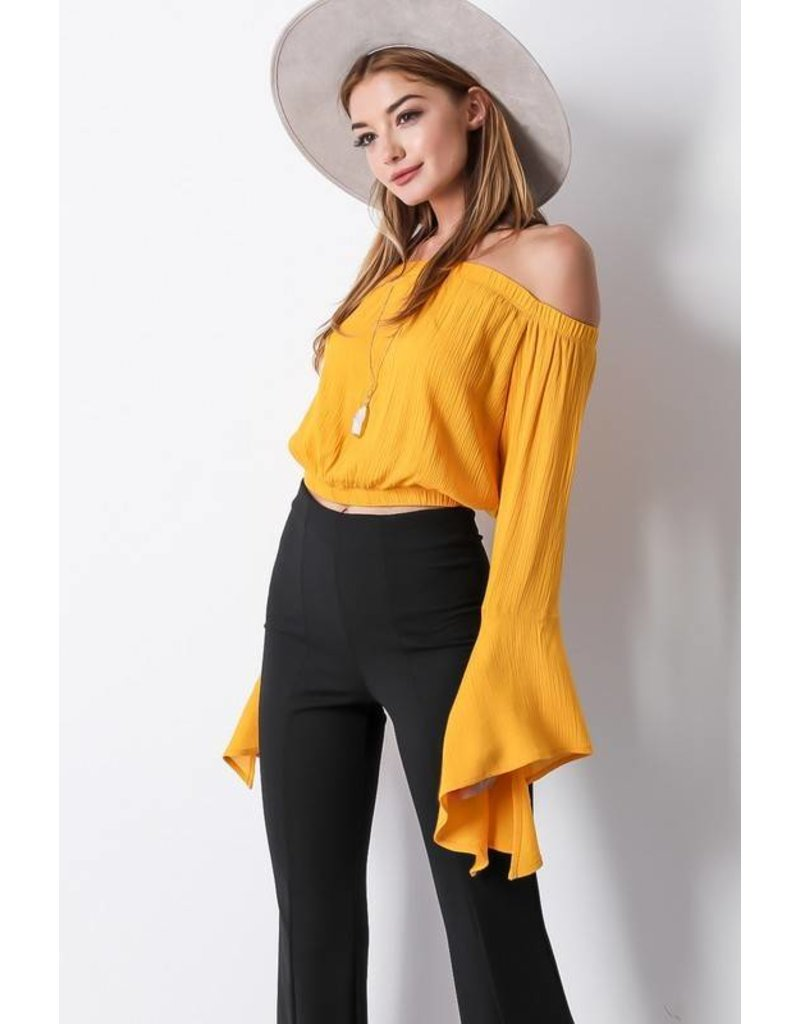 Gold Out Bell Sleeve Top