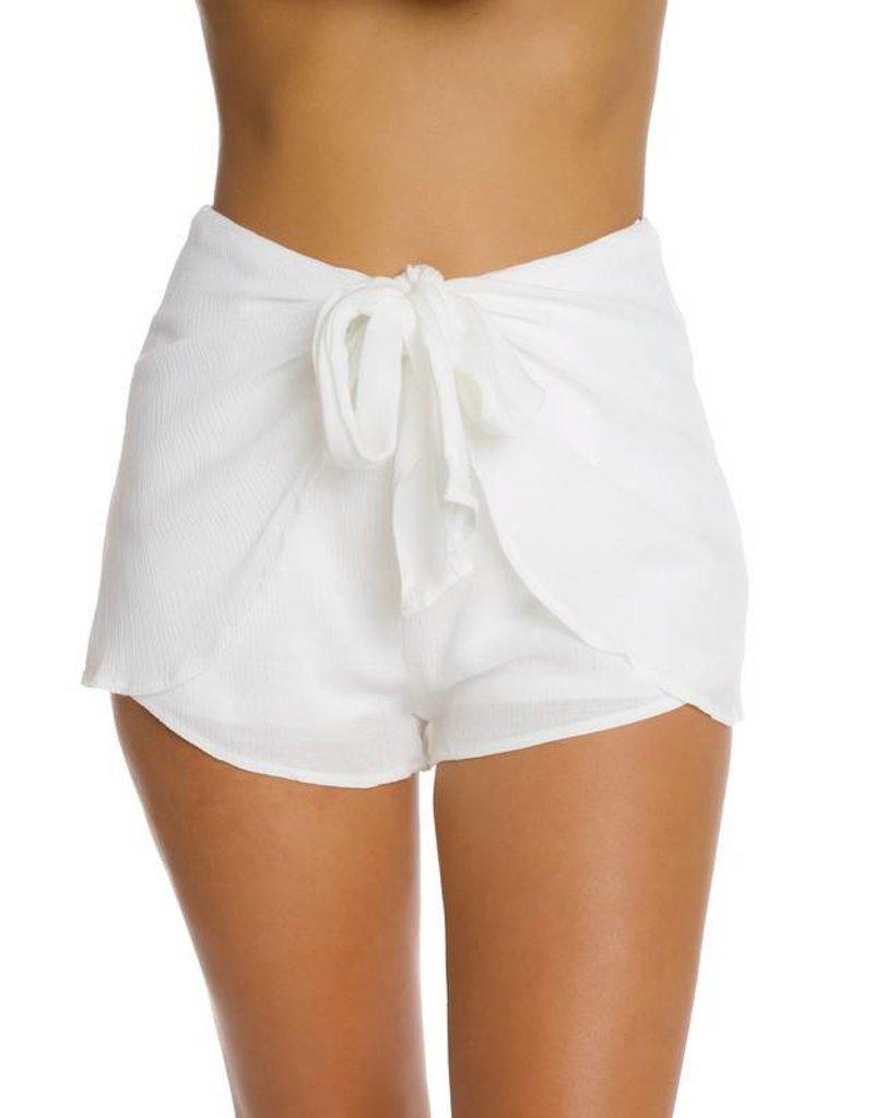 Crinkle Front Shorts