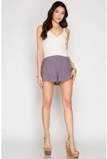 Ruffle Hem Game Day Shorts