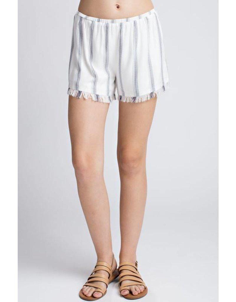 Fringe Hem Shorts