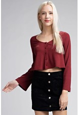 Belled Out Crop Top