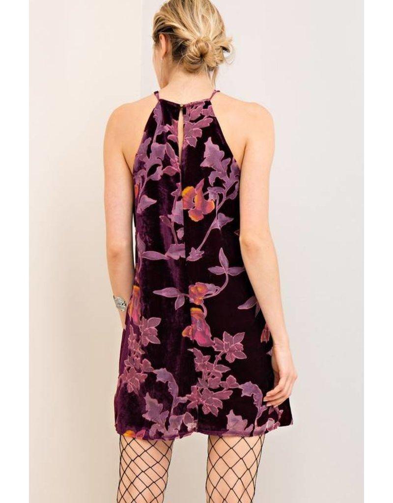 Sky Scraper Velvet Dress