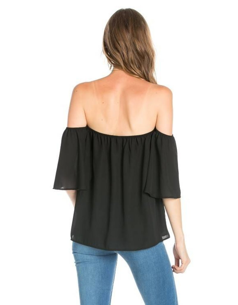 Olivia Off Shoulder Game Day Top