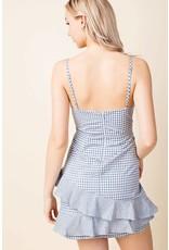 Check Mate Wrap Dress