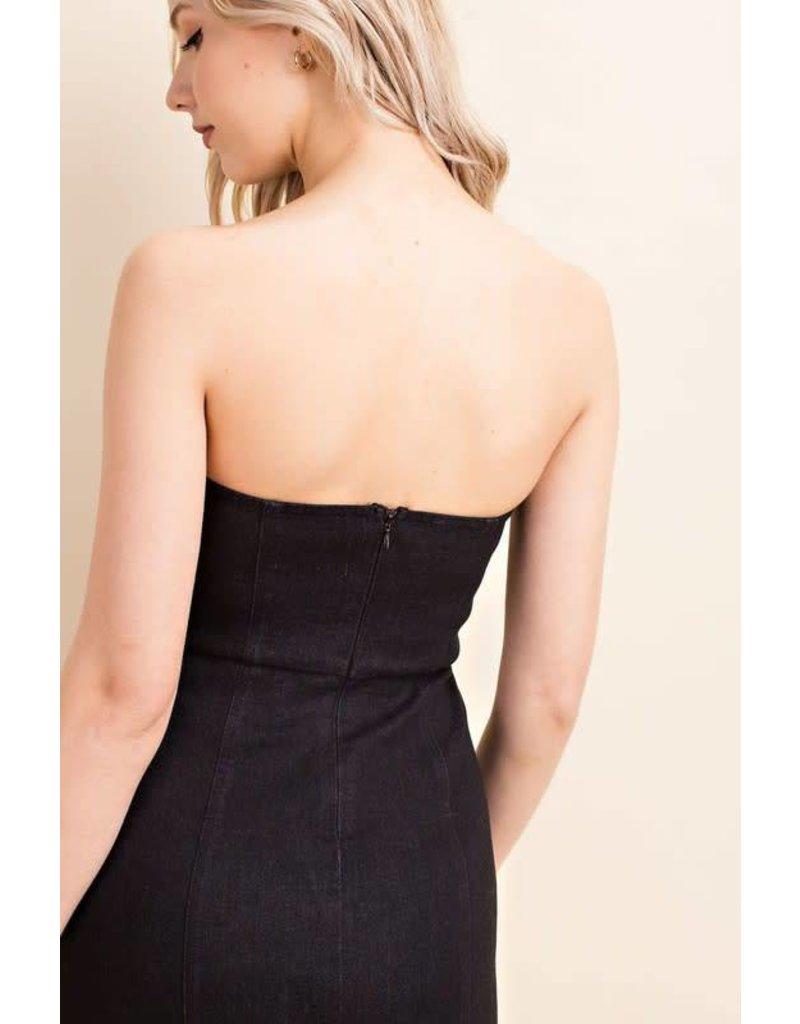 End Game Black Denim Dress