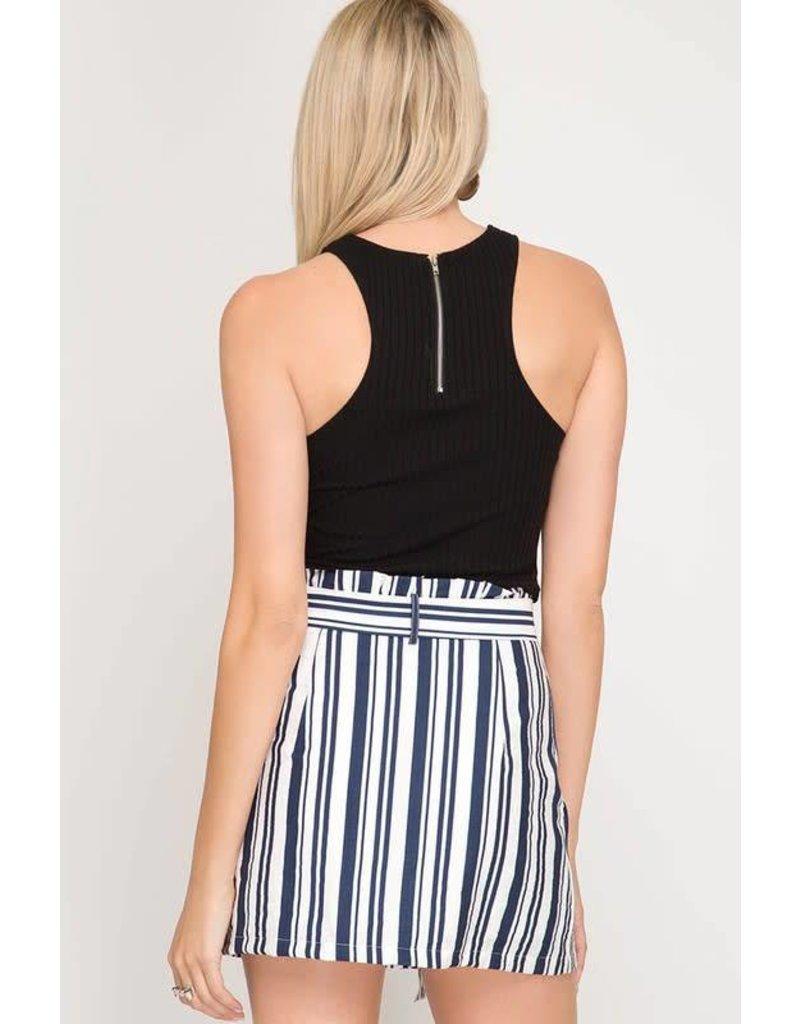 Reto Vibes Striped Skirt