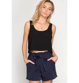 Ultra Chic Striped Shorts