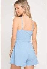 Easy As Can Be Tie Front Romper