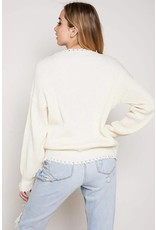 Peace And Love Belt Sweater