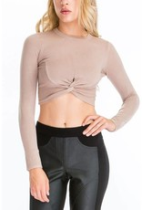 Knot Over You Cropped Sweater
