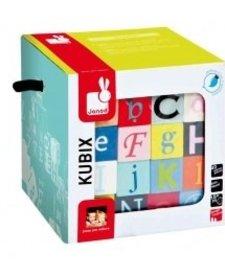 Kubix 40 Blocs Lettres et Chiffres Janod-40 Letters and Number Blocks