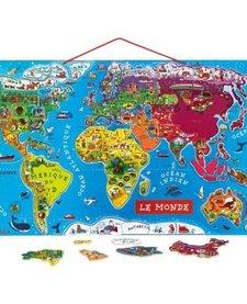 """Casse-tête magnétique """"le monde"""" Janod Magnetic World Puzzle"""