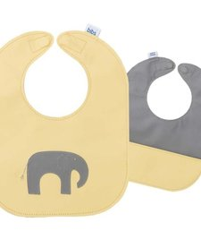 Bavette de cuir de Mally Designs  elephant Leather Bib