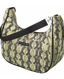 Sac à couches en brocard Petunia Pickle Bottom - Touring Tote - Citrine roll