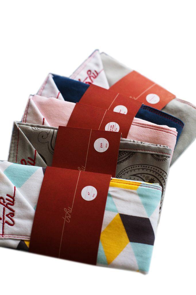 Mouchoirs en Tissu TSHU/ Handkerchief- Assortis Solo