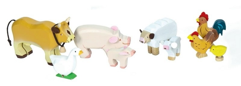 Le Toy Van Ensemble d'Animaux de la Ferme- Farm Animals de Toy Van