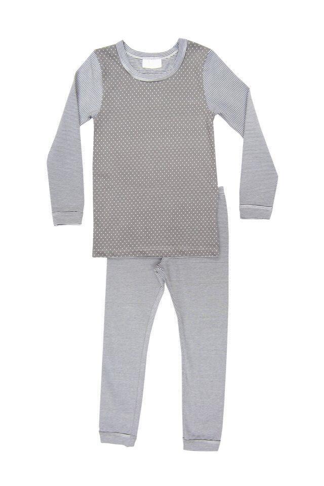 Coccoli Pyjama Deux Pièces Coccoli Picoté et Ligné