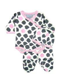 Pyjama 2 pièces body et pantalon à pieds motifs tâchetés de Coccoli