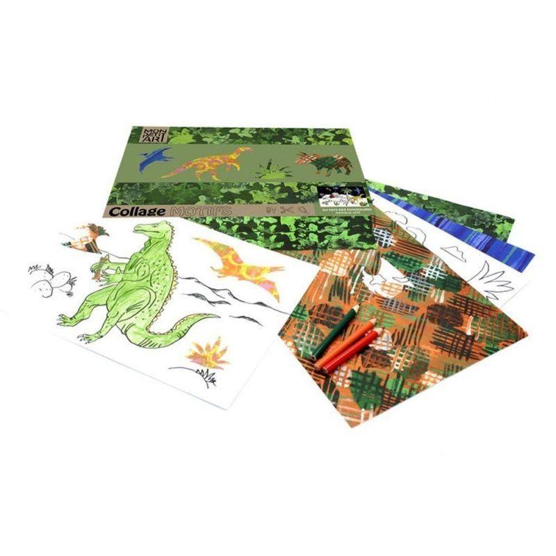 Mon Petit Art Cahier pour Coloriage et Collage  Dinosaures de Mon Petit Art/Collage and Colouring Book