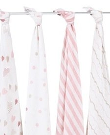 Couverture d'emmaillotage Aden & Anais Swaddle Heart Breaker (4 pack)