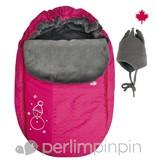 Perlimpinpin Couvre-Siège d'Auto avec Chapeau de Perlimpinpin/Car Seat Cover-Rose, OS