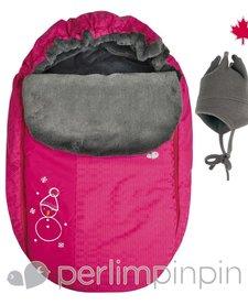 Couvre-Siège d'Auto avec Chapeau de Perlimpinpin/Car Seat Cover-Rose, OS