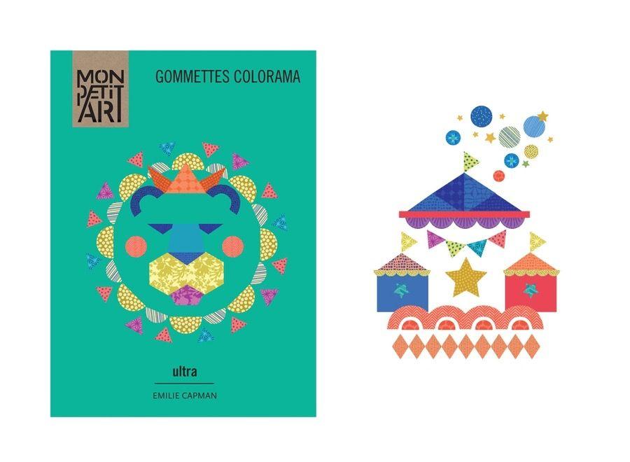 Mon Petit Art Cahier de Gommettes Colorama Ultra de Mon Petit Art/ Stickers