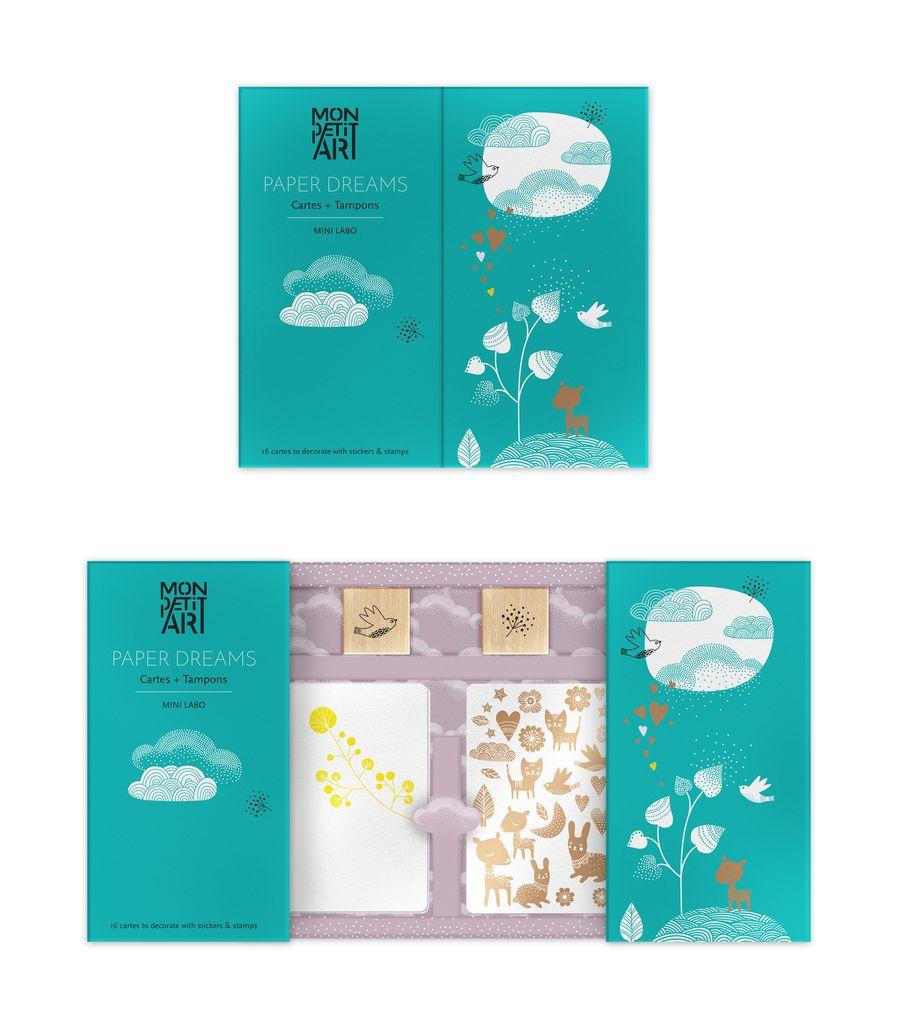 Mon Petit Art Ensemble de Papiers et Tampons Mon Petit Art/Paper Dreams