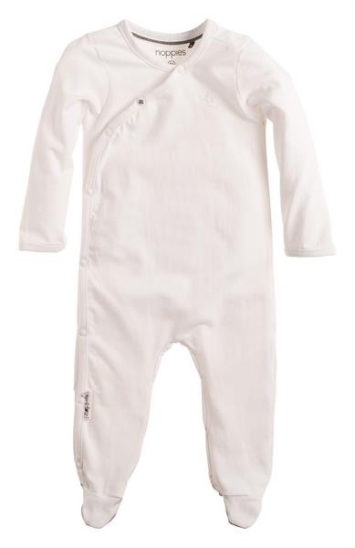 Noppies Grenouillère à Manches Longues Noppies/ Playsuit Riche White