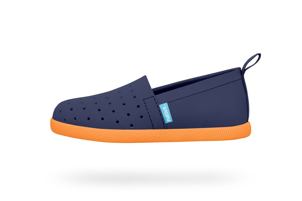Native Souliers Native Venice Child Regatta Blue/Begonia Orange