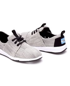 Chaussures Toms Shoes Del Rey Grey Textured Woven Youth