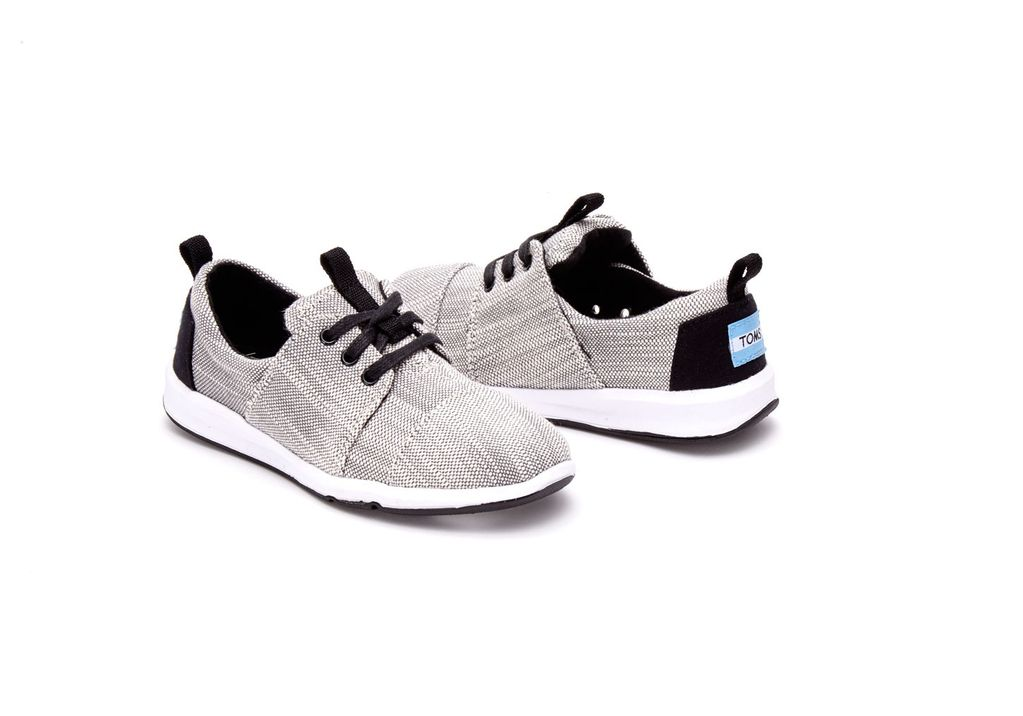 TOMS Chaussures Toms Shoes Del Rey Grey Textured Woven Youth