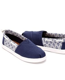 Chaussures Toms Shoes Youth- Biminis Navy Canvas/Jersey Anchors
