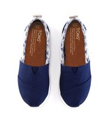 TOMS Chaussures Toms Shoes Youth- Biminis Navy Canvas/Jersey Anchors