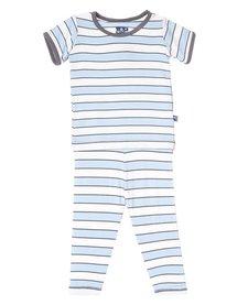 Pyjama Deux Pièces Rayé de Kickee Pants/ Print Short Sleeve Pajama Set