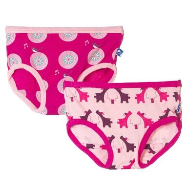 KicKee Pants Ensemble de 2 Culottes Kickee Pants/ Girl Underwear Set