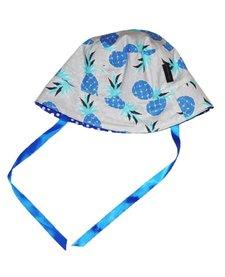 Chapeau Réversible Alice et Simone avec Pois et Ananas/Summer Hat with Dots and Pineapples